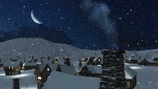 snowbound-european-village-in-mountains-at-snowfall-winter-night-with-a-half-moon-chimney-with-smoke-on-foreground-4k_banj3blgx_thumbnail-small11