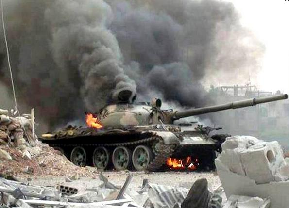 T-72-tank-on-fire-in-Syria