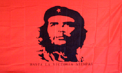 flag-che-guevara-on-red-background