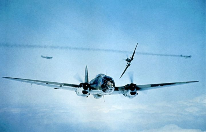 P145_Spitfire_attacks_HE-111_from_behind