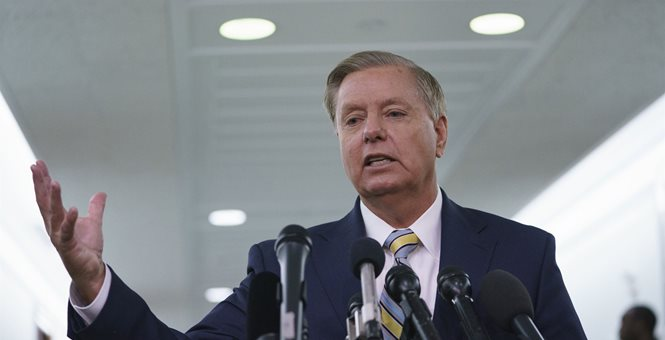 Sen. Lindsey Graham (R-SC) believes he has a solution to the border wall funding fiasco that resulted in a shutdown of the federal government. He proposes giving President Donald Trump the $5 billion he's asked for to build the wall along the southern border. In exchange, DREAMers would be given legal status, something Democrats have been pushing for.