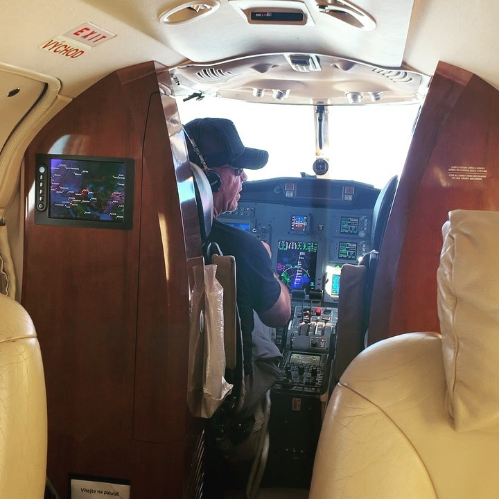 Image result for Till Lindemann, has been filmed behind the controls of a jet as it appeared to be heading to Moscow,