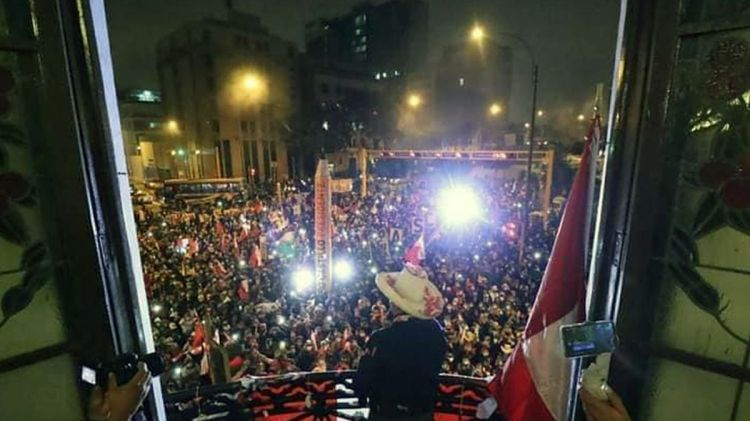 This image has an empty alt attribute; its file name is peru_election_victory_image_pedro_castillo_presidente_2021.jpg